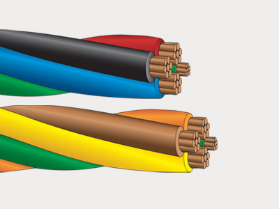 ServicePLEX prefab, twisted single conductor building wire