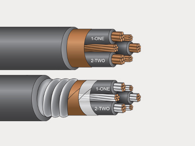 Tray and Armor Variable Frequency Drive Cable - ServiceDRIVE VFD Cable System