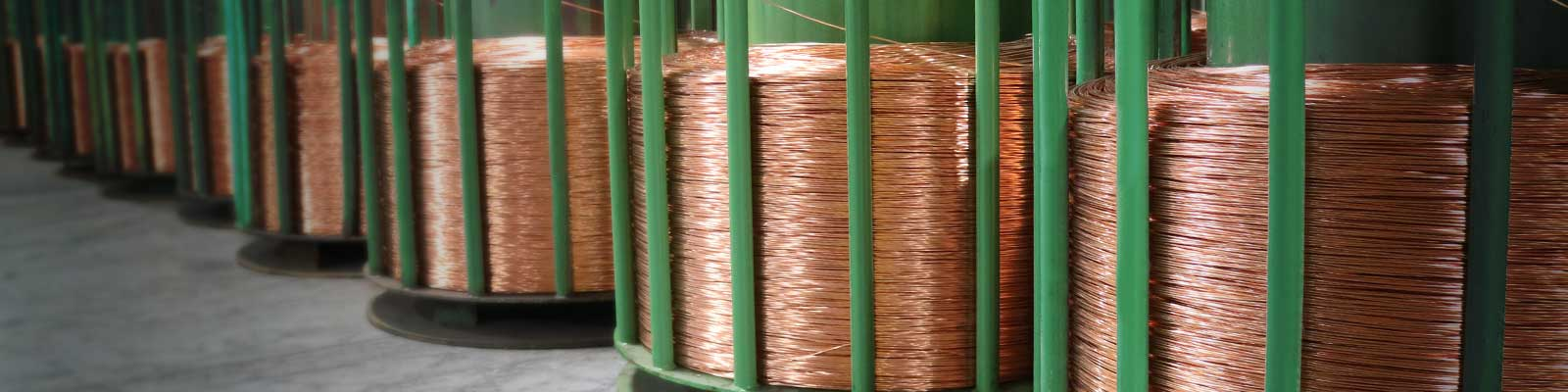 Stem pack of bare copper ready to be drawn through a dye to make stranded wire