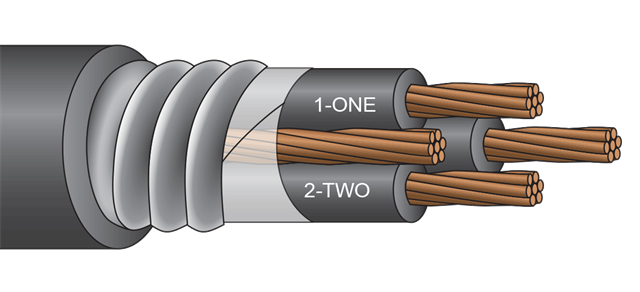 Jacketed MC 2kV 3 Conductor