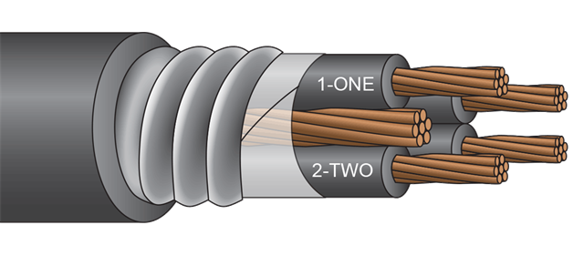 Jacketed MC 2kV 4 Conductor