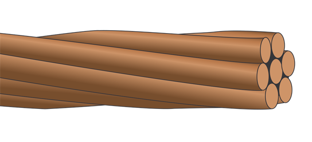 Weight Of Copper Conductors : Bare copper stranded awg
