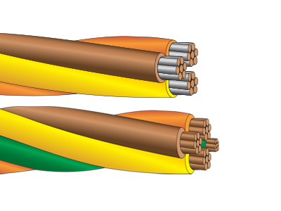 XHHW-2 ServicePlex Prefab, Twisted Cable